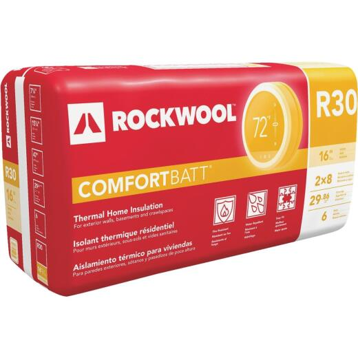 Rockwool Comfortbatt R-30 16 In. x 47 In. Stone Wool Insulation (6-Pack)