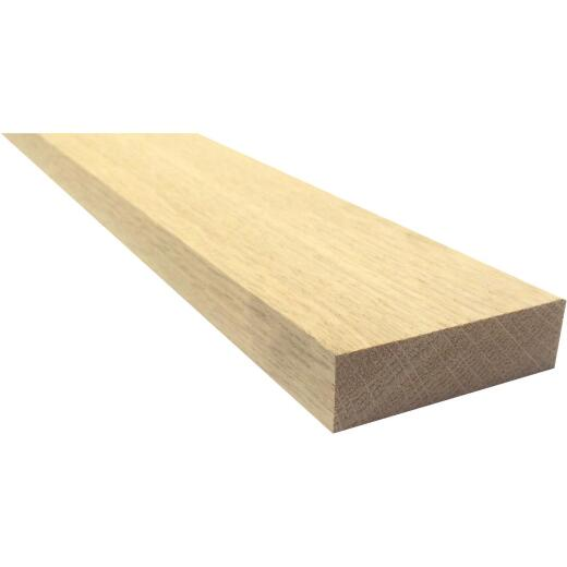 Waddell 1 In. x 3 In. x 6 Ft. Red Oak Board