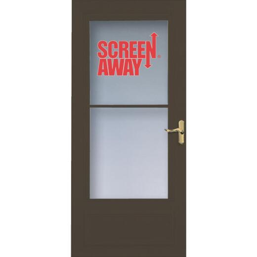 Larson Screenaway Lifestyle 36 In. W. x 80 In. H. x 1 In. Thick Brown Mid View DuraTech Storm Door