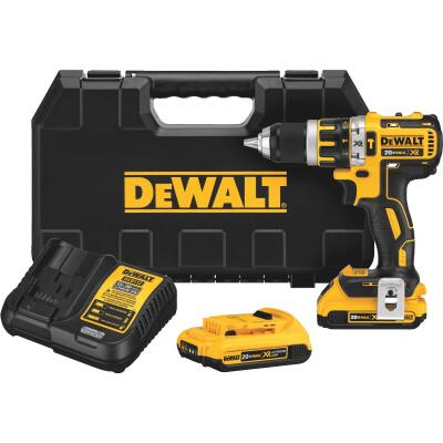 DeWalt 20 Volt MAX XR Lithium-Ion Brushless 1/2 In. Cordless Hammer Drill Kit