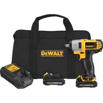 DeWalt 12 Volt MAX Lithium-Ion 3/8 In. Cordless Impact Wrench Kit